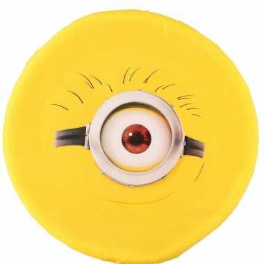 Gele minions met een oog frisbee buitenspeelgoed