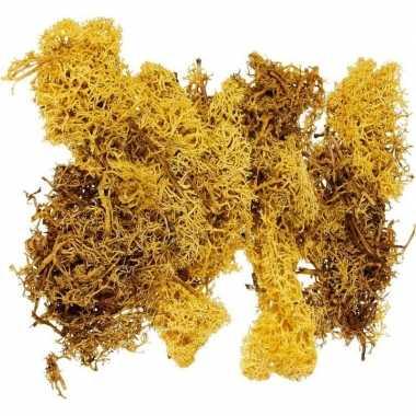 Gele mos natuurlijk materiaal 50 gram