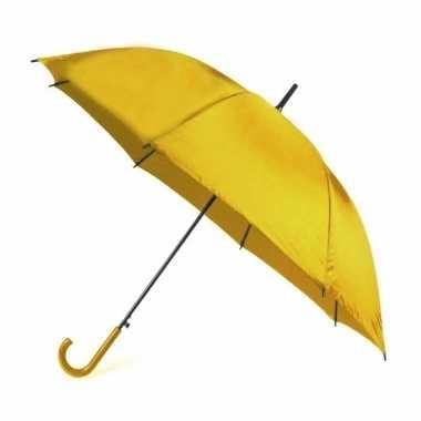 Gele paraplu ? 107 cm polyester/kunststof