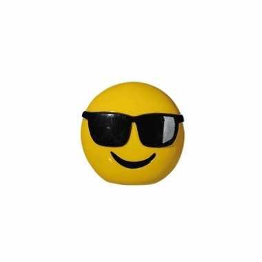 Gele spaarpot cole emoji 13 cm
