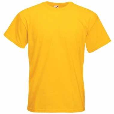 Gele t-shirts met korte mouwen voor heren