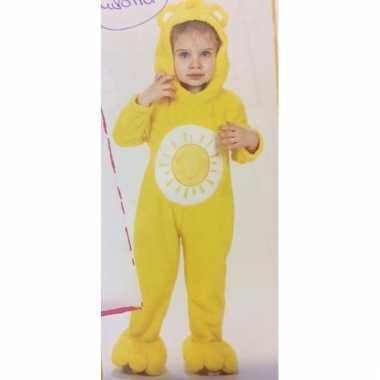 Gele troetelbeer onesie voor meisjes