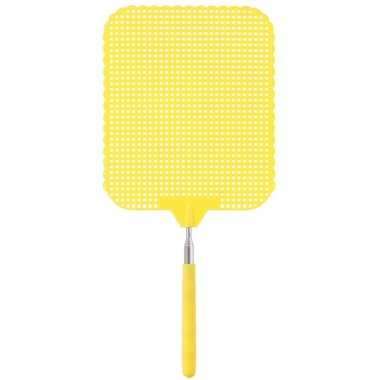 Gele uitschuifbare vliegenmeppers