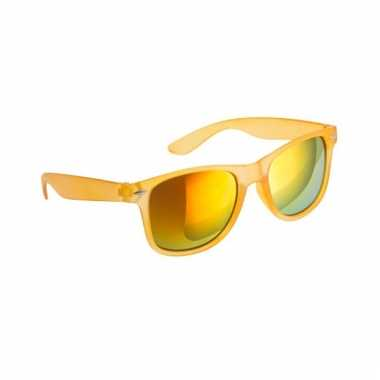 b5874834c39c0e Gele zonnebril met spiegelglas