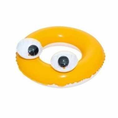 Gele zwemband met oogjes 61 cm voor kids
