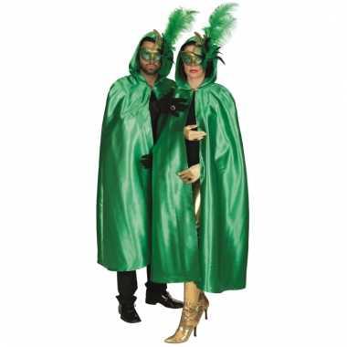 Gemaskerd bal mantel groen