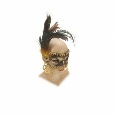 Gemaskerd bal venetiaans masker goud