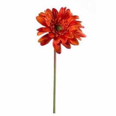 Gerbera nep tak 47 cm oranje