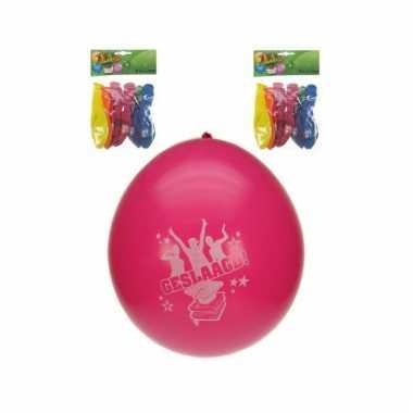 Geslaagd feest ballonnen 8 stuks