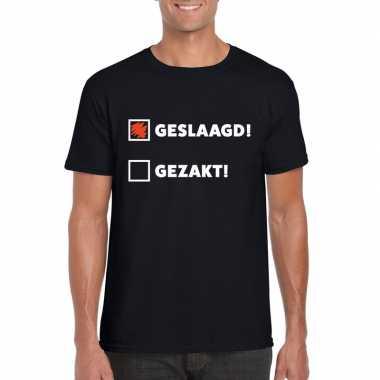 Geslaagd/ gezakt t-shirt zwart heren