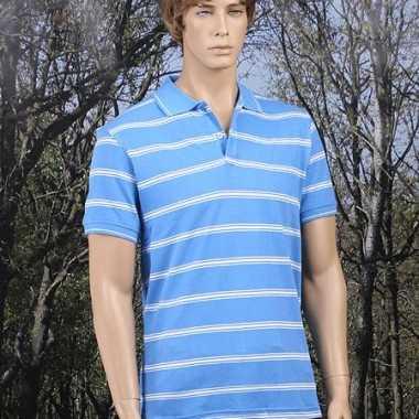 Gestreept blauw poloshirt