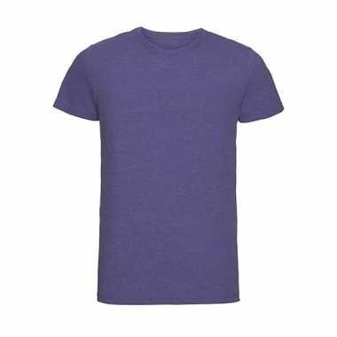 Getailleerde heren t-shirt met ronde hals lila