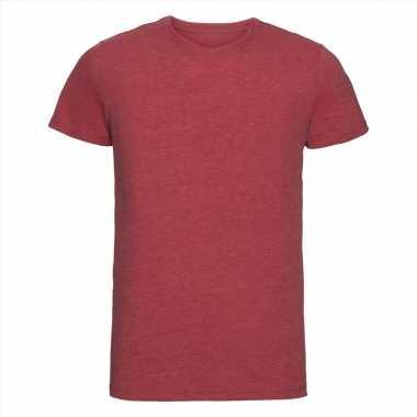 Getailleerde heren t-shirt met ronde hals rood