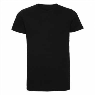 Getailleerde heren t-shirt met ronde hals zwart