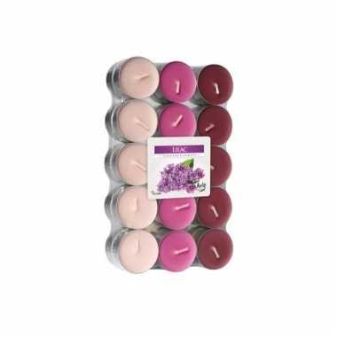 Geur kaarsjes lilac 30 stuks