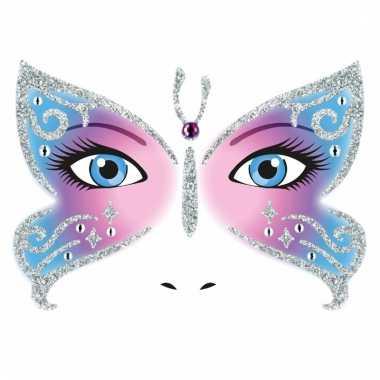 Gezicht glitter plakkers vlinder