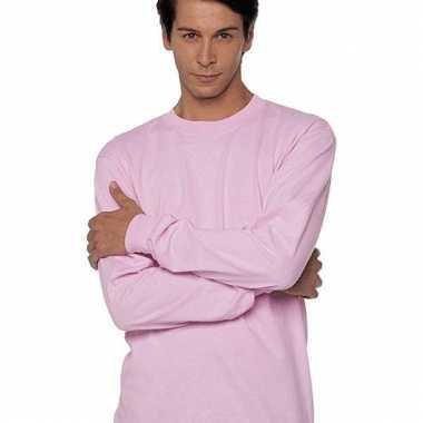 Gildan t-shirt lange mouwen roze