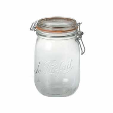 Glazen keuken voorraadpot 0.75 liter