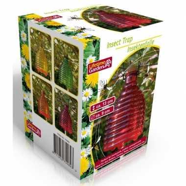 Glazen wespenvallen/wespenvangers 13 cm roze