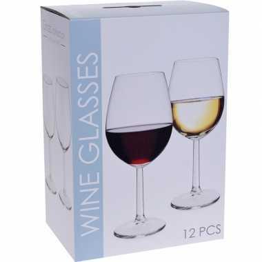 Glazenset voor wijn 12 stuks