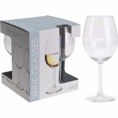 Glazenset voor wijn 4 stuks 430 ml