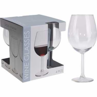 Glazenset voor wijn 4 stuks 580 ml