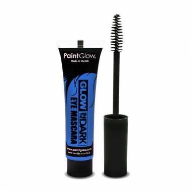 Glow in the dark make up blauwe mascara