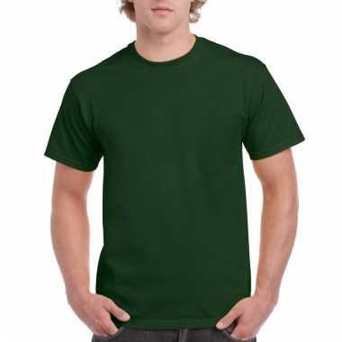 Goedkope gekleurde shirts donkergroen voor volwassenen