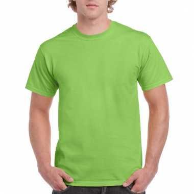 Goedkope gekleurde shirts limegroen voor volwassenen