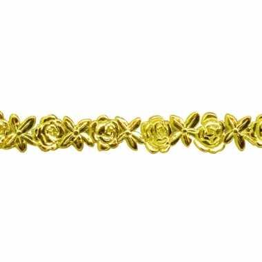 Gouden bloemenlintje van was 24 cm