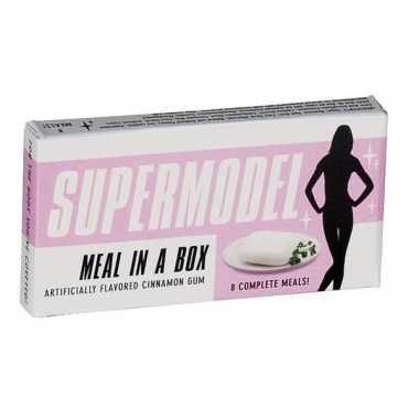 Grappige kauwgom supermodel meal in a box