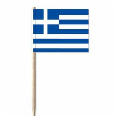 Griekse vlag cocktailprikkers 100 st
