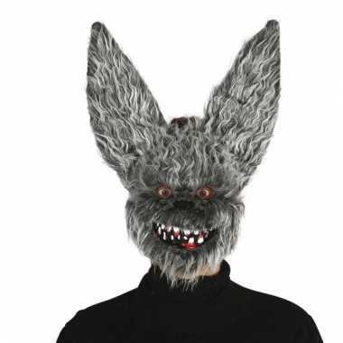 Grijze horror hazen masker