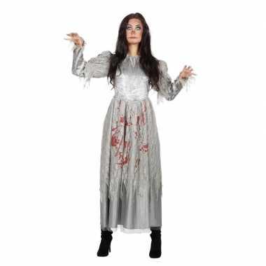 Grijze jurk met bloed voor dames