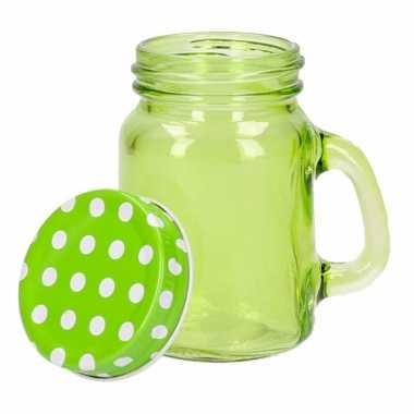 Groene glazen voorraad potjes 120 ml