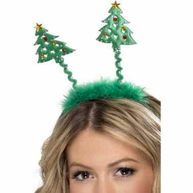 Groene kerstbomen diadeem