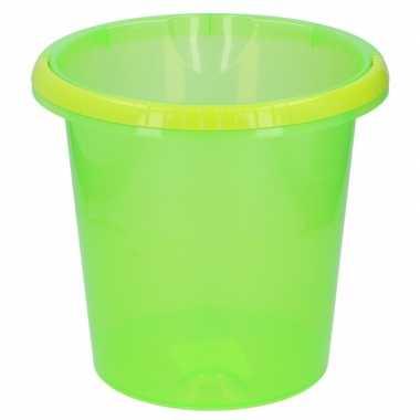 Groene schoonmaak emmer 27 cm