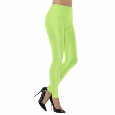 Groene spandex verkleed legging voor dames