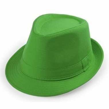 Groene trilby hoedjes voor volwassenen