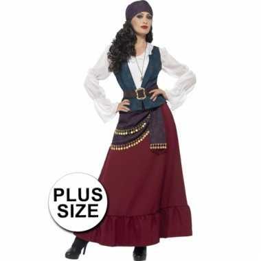 Grote maat dames piraat kostuum