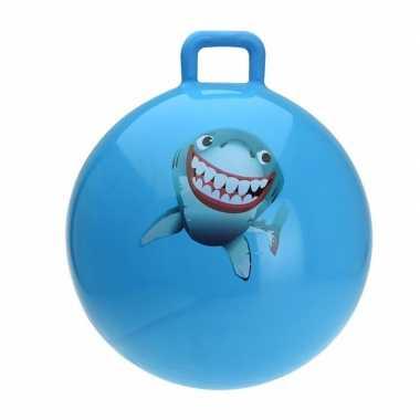 Haaien skippybal blauw 55 cm