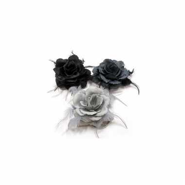 Haar accessoire roos grijs kleuren