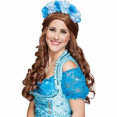 Haarband met blauwe bloemen