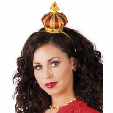 Haarband met gouden kroontje