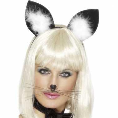Haarband met katten/poezen oren voor dames
