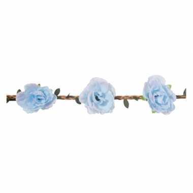Haarband met lichtblauwe bloemen voor dames