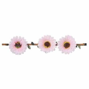 Haarband met lichtroze bloemen voor dames