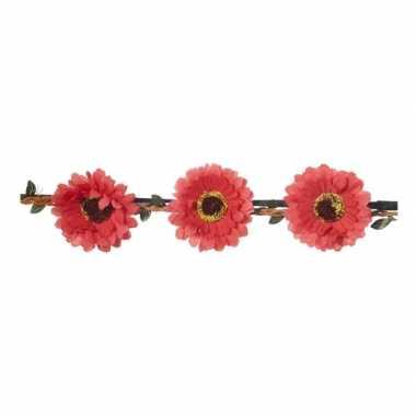 Haarband met rode bloemen voor dames