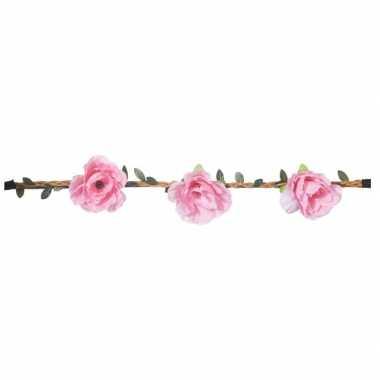 Haarband met roze bloemen voor dames