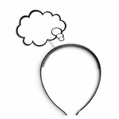 Haarband met strip wolkje